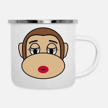 Cosmetics Beautiful Cosmetic Monkey - Enamel Mug
