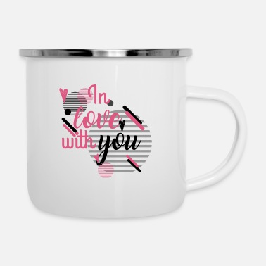 Love You in Love With YOu - Enamel Mug