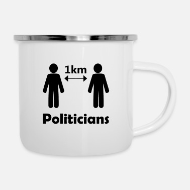 Election Campaign social distance and campaigning - Enamel Mug