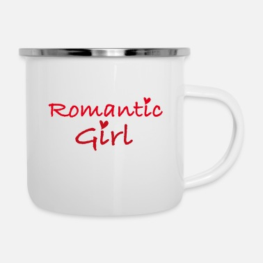 Romantic romantic girl - Enamel Mug