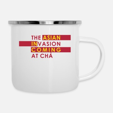 Asian Asian Invasion Asian in Coming - Enamel Mug