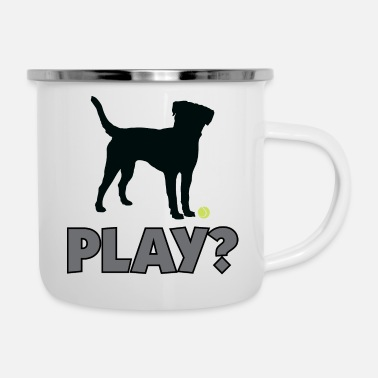 Golden Retriever Tennis Ball Pup Play Puppy Play - Enamel Mug