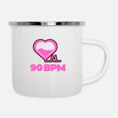 90 BPM Music Love - Enamel Mug