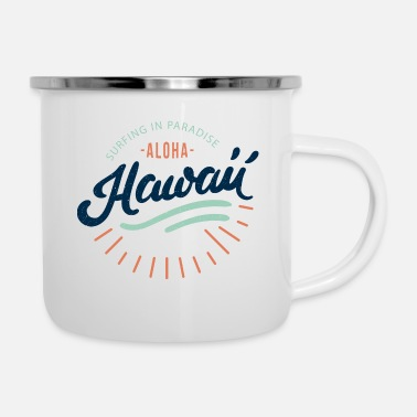 Surfing Hawaii - Enamel Mug