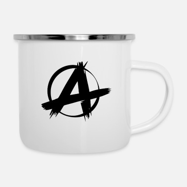 Anarchy Punk punk anarchy symbol sign - Enamel Mug