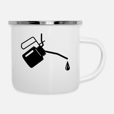 Oil An oil can and oil drop - Enamel Mug