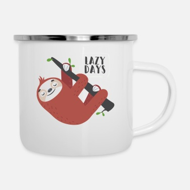 Lazy Day Sloth - Enamel Mug