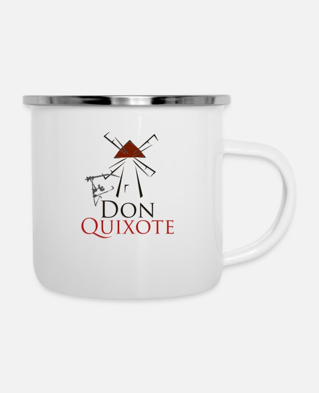 Quixote Mugs & Cups - Don quixote - Enamel Mug white