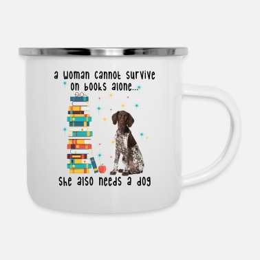 BOOK AND GERMAN SHORTHAIRED POINTER - Enamel Mug