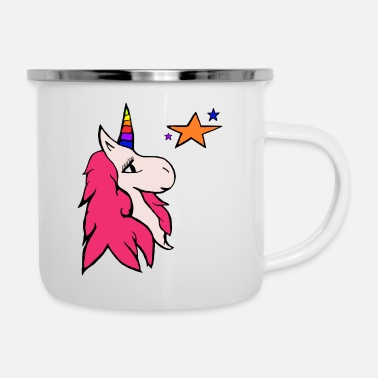 The Cute Unicorn Stars - Enamel Mug