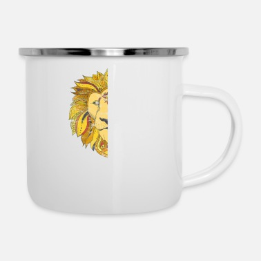 Theology Faith in God - Lion Animals King powerful Bible - Enamel Mug