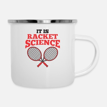 Tennis tennis tennis players tennis coaches tennis racket - Enamel Mug