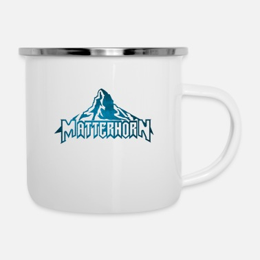 Alps The Matterhorn Alps - Enamel Mug