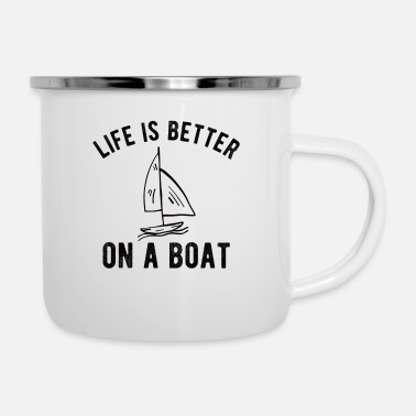 Anchor BOATING : Life is better on a Boat - Enamel Mug