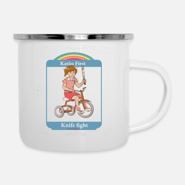 Smiffys katies first knife fight - Enamel Mug