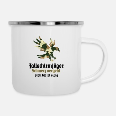 Grenadier paratroopers jumper training course promotion - Enamel Mug
