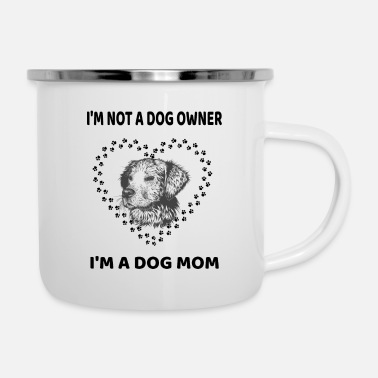 Golden Retriever Funny dog mom paw Labrador Pitbull gift - Enamel Mug