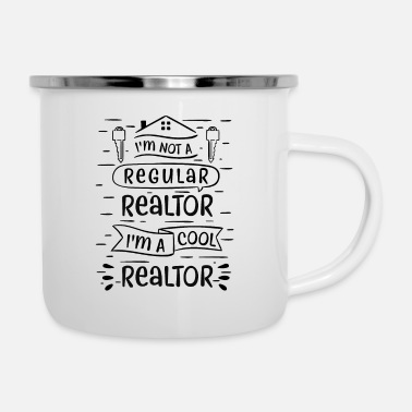 Real Real Estate Agent - Enamel Mug