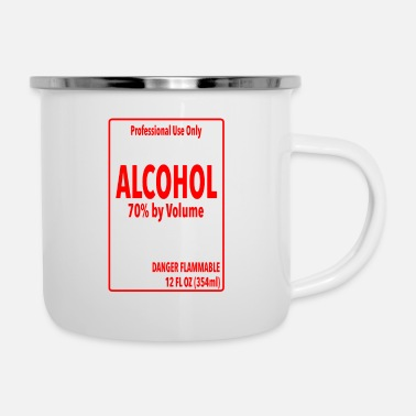 Alcohol Label - Simple DIY Halloween Costume - Enamel Mug