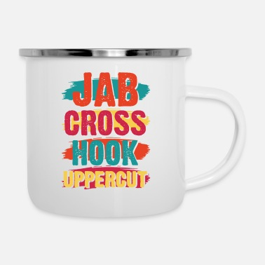 Uppercut Jab Cross Hook Uppercut - Enamel Mug