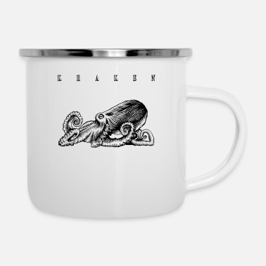 Kingdom octopus tshirt deep sea dwellers gift tip - Enamel Mug