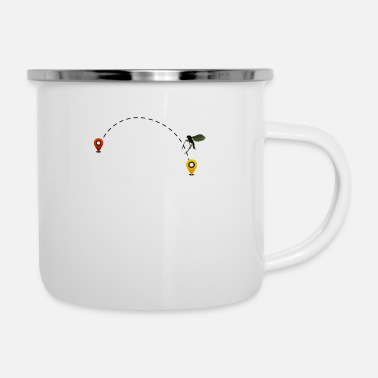 Fly Air Travel Travel Planning Fly - Enamel Mug