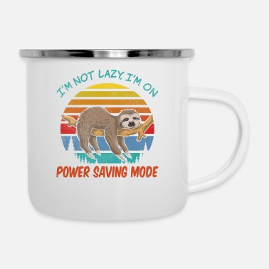 Girlfriend I'm not Lazy, I'm On Power Saving Mode - Enamel Mug
