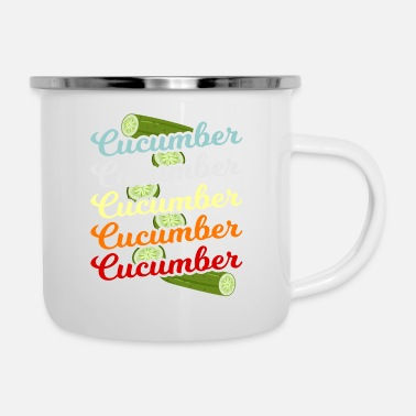 Cucumber Cucumber Green Vegetable Gift - Enamel Mug