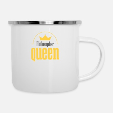 Tacher Philosopher queen - Enamel Mug