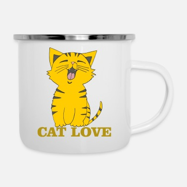 Cat Love cat love - Enamel Mug