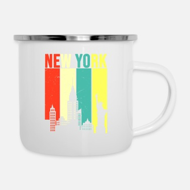Empire New York Retro Skyline - Enamel Mug