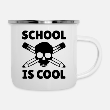 School Starter School is Cool Skull - Enamel Mug
