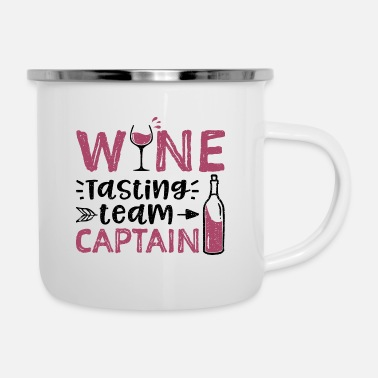 Vodka Wine Tasting Team Captain - Wine - Enamel Mug