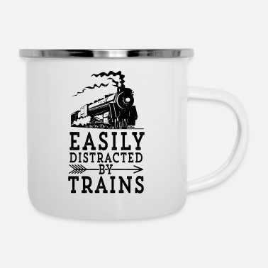 Steam Steam Engine Locmotive Gift Easily Distracted By - Enamel Mug