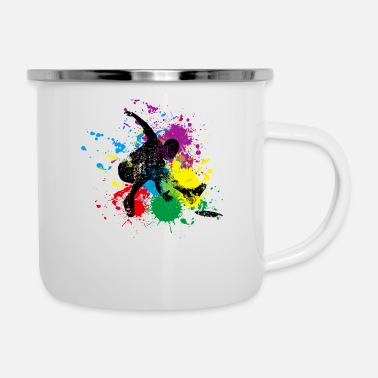 Splash Splash Disc Golf gift for Disc Golf Player - Enamel Mug