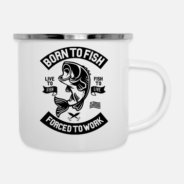 Born To Fish - Enamel Mug