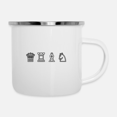 Chess pieces - Enamel Mug