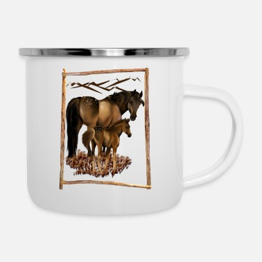 Mare Mare and Baby - Enamel Mug