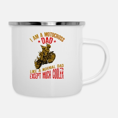 Motocross I Am A Motocross Dad graphic - Vintage Biker Gift - Enamel Mug