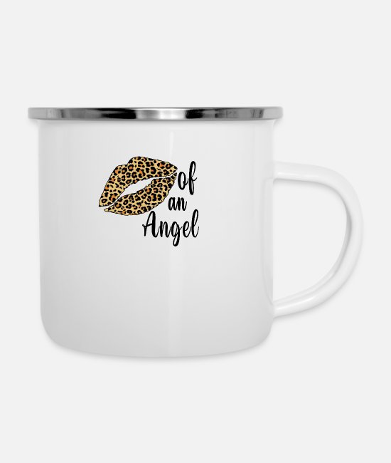 Gramophone Mugs & Cups - Of An Angel - Enamel Mug white