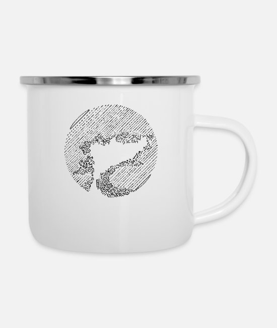 Dream Mugs & Cups - Mystic Tree - Enamel Mug white