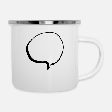 Speech Balloon speech balloon - Enamel Mug