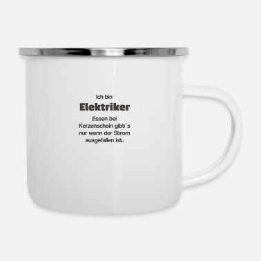 Romantic Electrician romantic - Enamel Mug