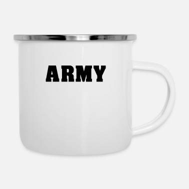 Army Man ARMY army athlete muscle man gym - Enamel Mug
