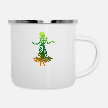 Hula Dancer Hawaii Hula Dancer Polynesian Tribal Tattoo Gift - Enamel Mug