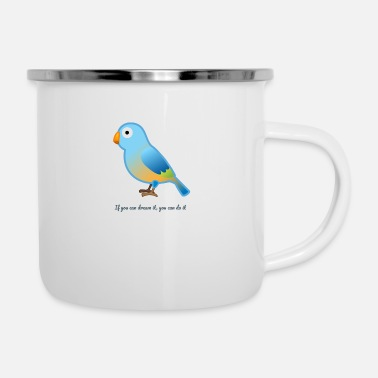Bird Bird Word - Enamel Mug