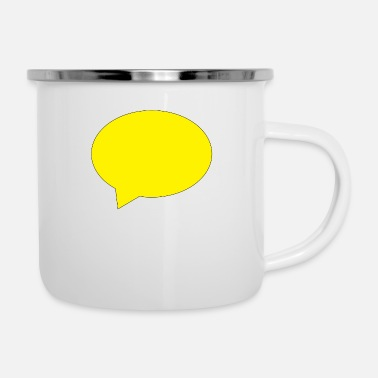 Speech Balloon balloon speech bubble speech balloon - Enamel Mug