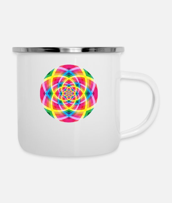 Artist Mugs & Cups - Colorful Pattern - Enamel Mug white