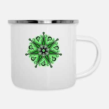 Girl Elven Elf Elven Star, Heptagram, Perfection & Protection - Enamel Mug