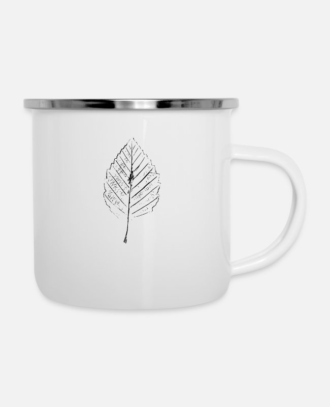 Grow Mugs & Cups - Leaf - Enamel Mug white